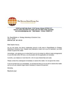 Proof Of Debt Letter Template from www.stevenslloydgroup.com